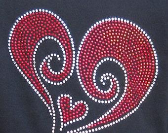 Womens Swirled Heart shirt