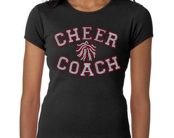 Women's rhinestone Cheer Coach shirt