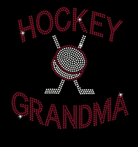 Women's rhinestone Hockey GRANDMA NANA or MIMI
