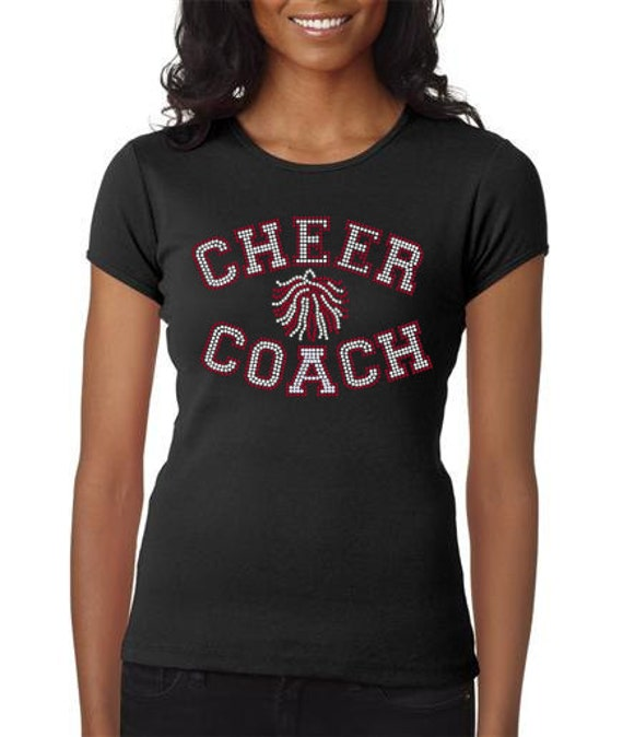 Women's rhinestone Cheer Coach shirt