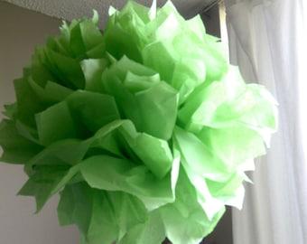1 Apple Green Tissue Paper Pom Pom, Paper Poms, Wedding tissue paper poms, paper pom poms, tissue flowers, birthday party decor