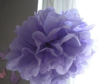 1 Lavender Tissue Paper Pom Pom, paper pom pom, wedding decoration, pom flower