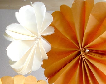 tissue paper pom poms...100 pom wheels...pom medallion...pick your color