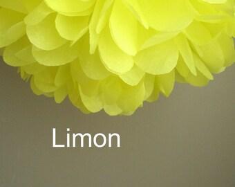 1 Limon Tissue Paper Pom Pom
