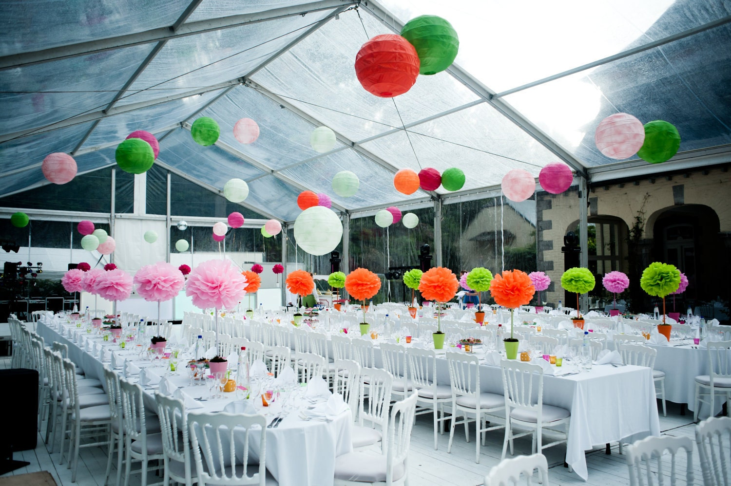 paper wedding decorations 25 medium tissue paper pom poms wedding tissue paper poms 6376