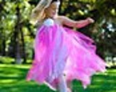 Pink and White Flower Girl Tutu Halter Dress-For Jamie  Size 7