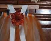 Fall Tutu Halter Dress with Headband