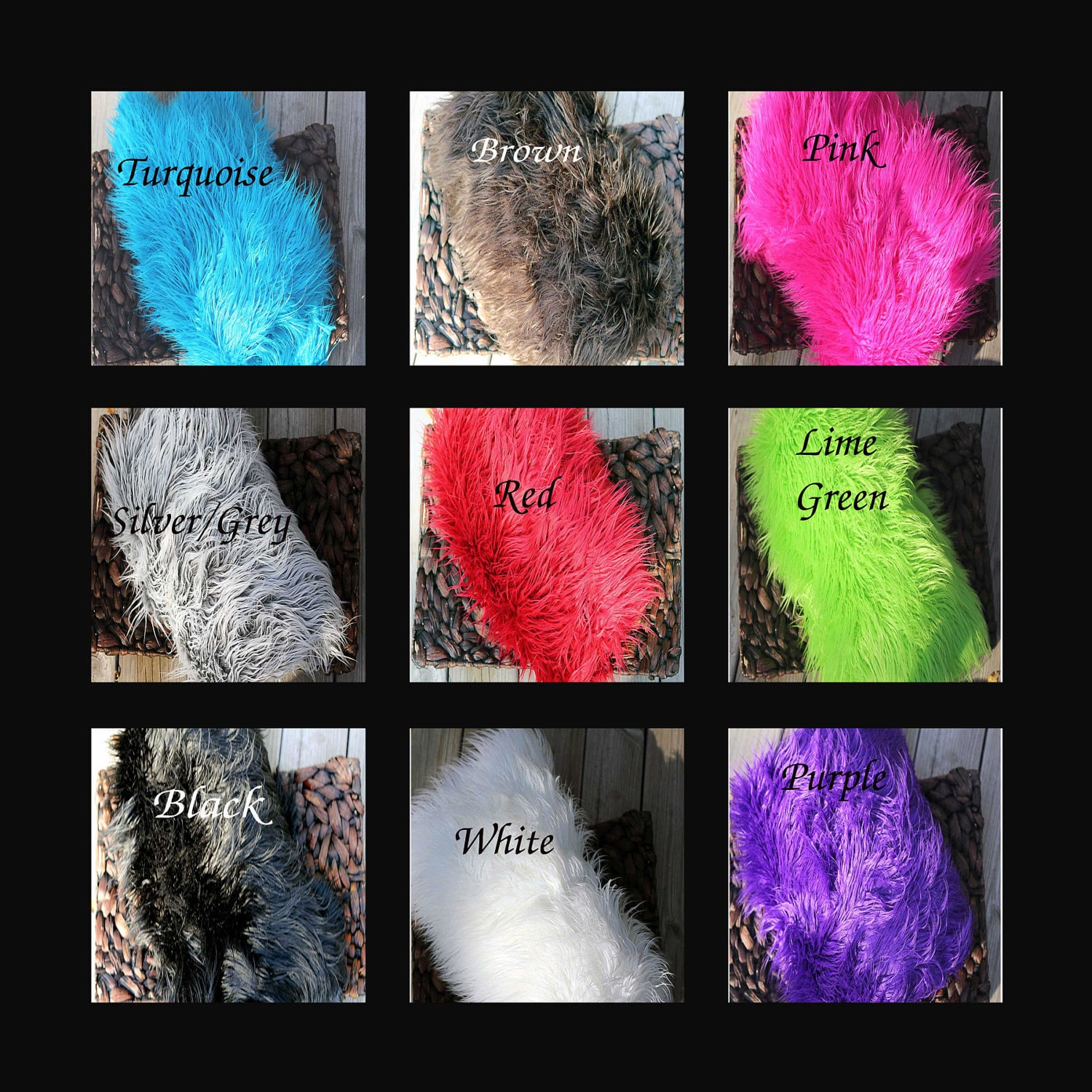 Faux Fur Rug 6 Different Colors Photography Prop Blanket
