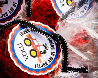 Monster Truck Party Favor Tags Set of 12