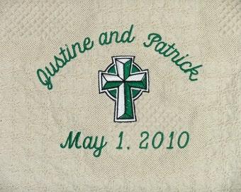 Irish Wedding Blanket Wedding Throw Personalized Irish Wedding Gift Celtic Gift Personalized Wedding Blanket