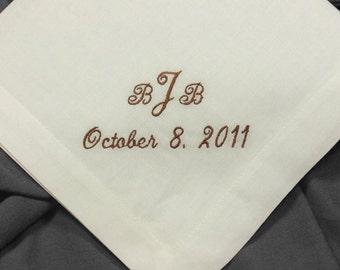 Pocket Handkerchief Linen Monogrammed for Men HML400