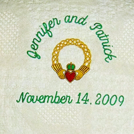 Irish Claddagh Celtic Wedding Blanket Throw