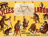 Cycles Labor Bicycle Poster (#0045) 6 sizes