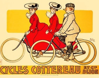 Cycles Cottereau Bicycle Poster (#1256) 6 sizes