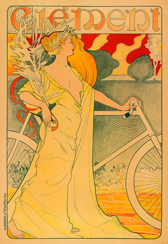 Clement Bicycle Poster (#0301) 6 sizes