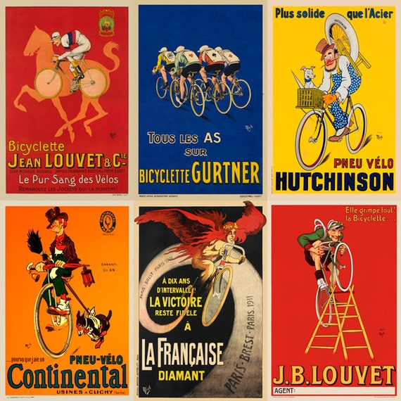 The Fun Images of MICH Bicycle Poster Set of Six Prints