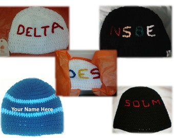 Crochet Monogram Hat (style 1)