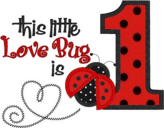 LADYBUG Love BUG 1st Birthday Girls Personalized Custom