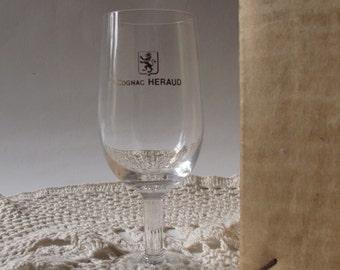 Set of 4 vintages Cognac's glasses