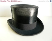 RESERVED antique silk top hat