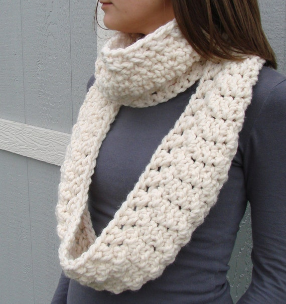 Infinity Scarf Crochet Thick Womens Cowl Neck warmer Long Custom Colors