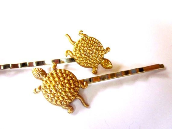 Summer Hair Clips Turtles Accessories Girls Beach Bobby Pin Set
