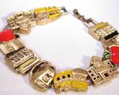 Vintage School Days Charm Bracelet