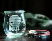 Etched Honey Pot