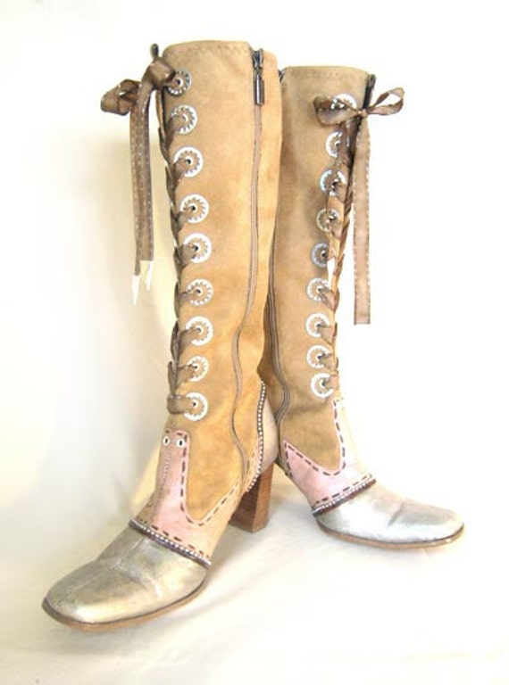 CUSTOM MADE Upcycled Steampunk/ Art boots