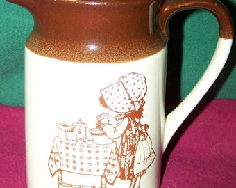 "Holly Hobbie ""Hearth and Home"" Pitcher"