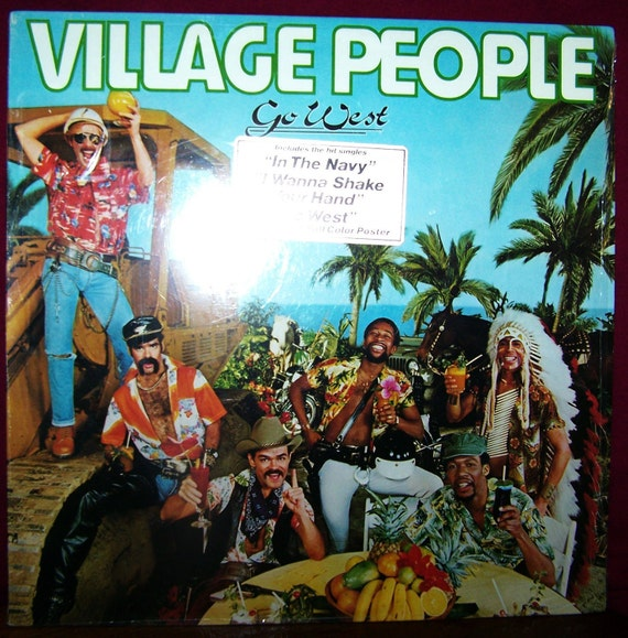 1979 Village People Go West Record Album