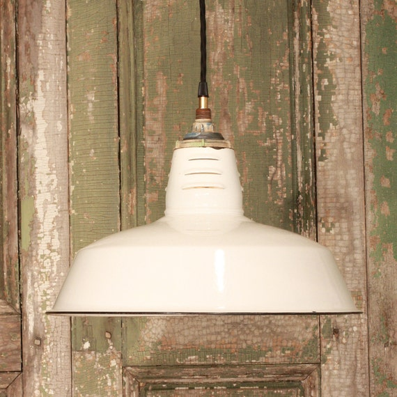Vintage And Industrial Lighting From Etsy: Pendant Lighting With Vintage Industrial White By