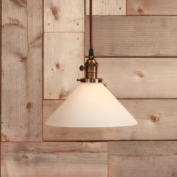 Pendant Lighting With White Glass Shade