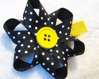 M2M Gymboree Bee Chic Flower Hair Clip with Button Center