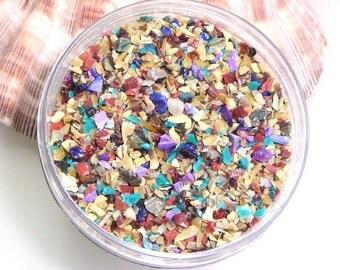 Metamorphosis Frit Blend for Lampwork Bead Making 96 CoE Silver Glass Royal Purple Rose Turquoise Raku 2 oz. Jar
