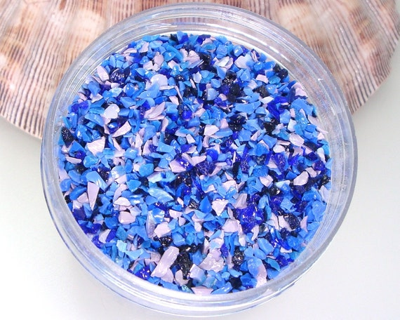 Bluebonnet Frit Blend for Lampwork Bead Making 96 CoE Glass Blue Violet Indigo Lavender Purple Rose Periwinkle 4 oz. Jar