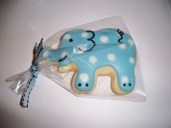 Baby Boy Elephant Sugar Cookies by Just4YouTreats on Etsy