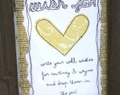 Wish jar sign