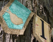 love birds burlap banner