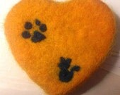 Felted Soap Heart
