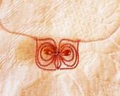 HOOT OWL beaded necklace