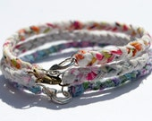 Braided Fabric Bracelet with lobster clasp