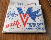 WWII patriotic stationery, vintage from 1942