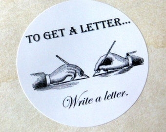 To Get a Letter, Write a Letter stickers, set of 8
