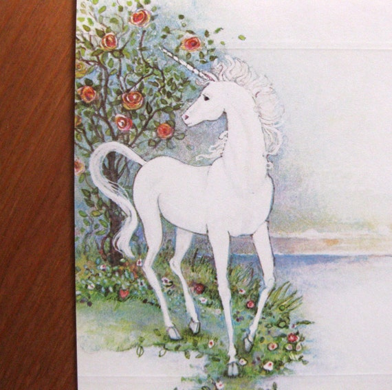 Vintage unicorn postalettes, set of 3 - LAST ONE