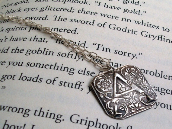 Monogram Necklace in Fine Silver