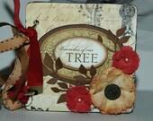 Family Heritage mini scrapbook album premade pages vintage brag book family tree