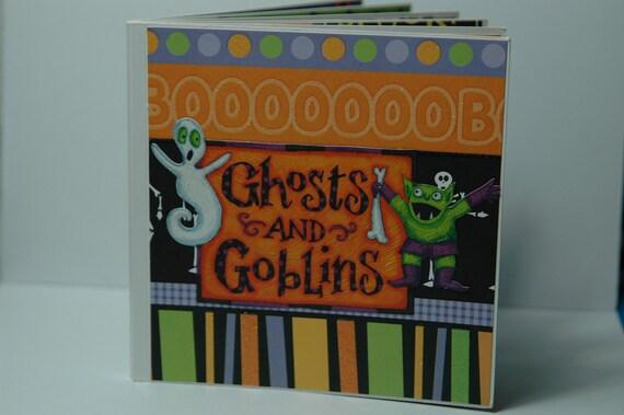 Halloween Premade pages board book - 6x6 spooky scrapbook album