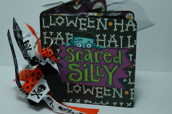 Halloween brag book premade pages coaster album scrapbook