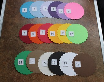 Color quality cardstock 65lb (176g/m2) for die cuts